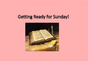Getting Ready for Sunday Palm Sunday The Gospel