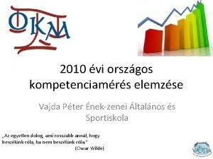 2010 vi orszgos kompetenciamrs elemzse Vajda Pter nekzenei