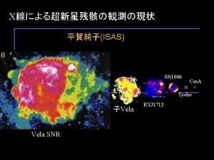 X ISAS SN 1006 Cas A Tycho Vela
