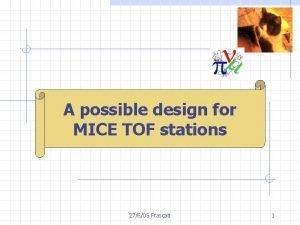M Bonesini A possible design for MICEINFN TOFMilano