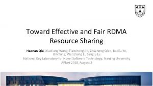 Toward Effective and Fair RDMA Resource Sharing Haonan