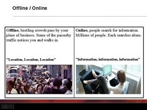 Offline Online Offline bustling crowds pass by your