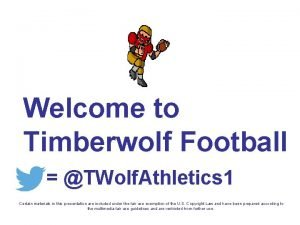 Welcome to Timberwolf Football TWolf Athletics 1 Certain
