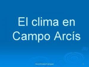 El clima en Campo Arcs Silvia Mislata Rodrguez
