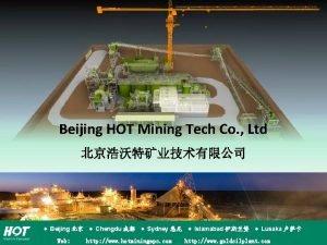 Beijing HOT Mining Tech Co Ltd Beijing Chengdu