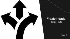 Flexibilidade Helena Hirata Grupo H Flexibilidade DEFINIO Qualidade