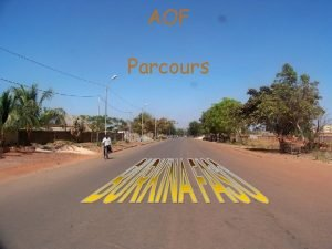AOF Parcours AOF internationale 6 mois de formation