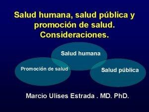 Salud humana salud pblica y promocin de salud