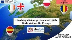 CARE Relaionare Cofinanat de Programul Erasmus al Uniunii