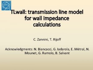 TLwall transmission line model for wall impedance calculations