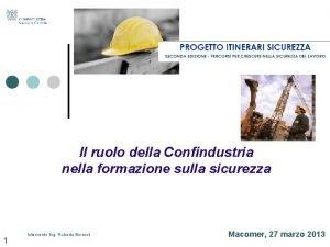 Il ruolo della Confindustria nella formazione sulla sicurezza