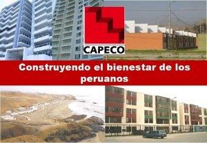 Construyendo el bienestar de los peruanos PANORAMA POLTICO