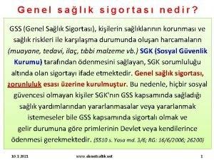 Genel salk sigortas nedir GSS Genel Salk Sigortas