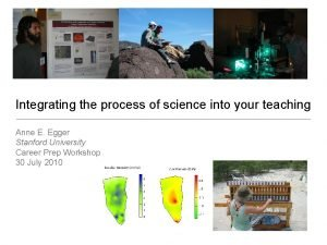 Integrating the process of science into your teaching