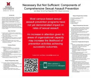 Necessary But Not Sufficient Components of Comprehensive Sexual