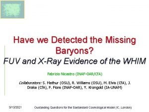 Have we Detected the Missing Baryons FUV and