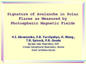 Signature of Avalanche in Solar Flares as Measured