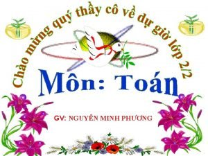 GV NGUYN MINH PHNG Tr chi ong i