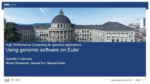High Performance Computing for genomic applications Using genomic