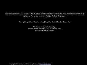 Epigallocatechin3 Gallate Ameliorates Experimental Autoimmune Encephalomyelitis by Altering