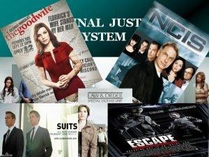 CRIMINAL JUSTICE SYSTEM 1 st Principles Justice Criminal