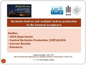 Exclusive hadron and multiple hadron production in the