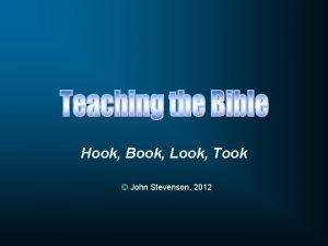 Hook Book Look Took John Stevenson 2012 Use