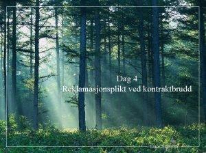 Dag 4 Reklamasjonsplikt ved kontraktbrudd Lasse Simonsen 1