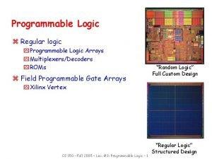 Programmable Logic z Regular logic y Programmable Logic