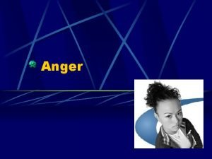 Anger About Anger Anyone can become angry that