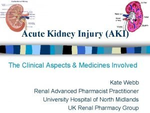 Acute Kidney Injury AKI The Clinical Aspects Medicines