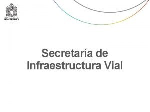 Secretara de Infraestructura Vial Secretara de Infraestructura Vial