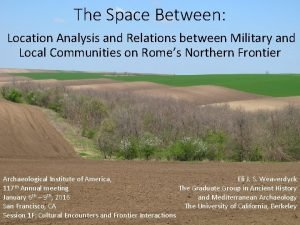 The Space Between Location Analysis and Relations between
