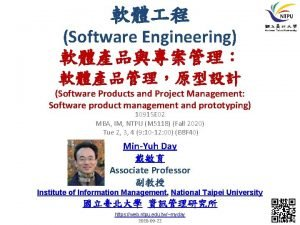 Software Engineering Software Products and Project Management Software