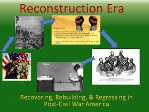 Reconstruction Era Recovering Rebuilding Regressing in PostCivil War