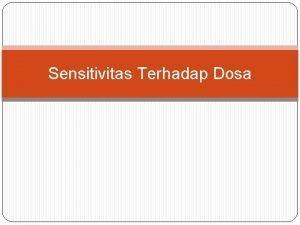 Sensitivitas Terhadap Dosa Dosa berasal dari kata arab