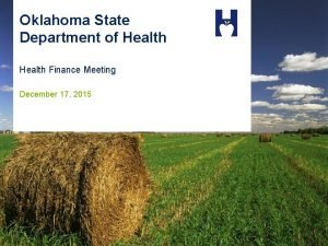 Oklahoma State Department of Health Finance Meeting December