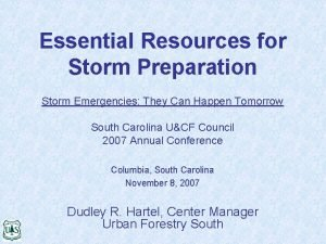 Essential Resources for Storm Preparation Storm Emergencies They