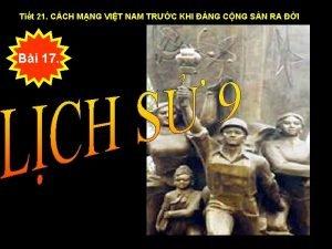 Tit 21 CCH MNG VIT NAM TRC KHI