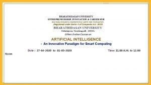 BHARATHIDASAN UNIVERSITY ENTREPRENEURSHIP INNOVATION CAREER HUB BDU RUSA