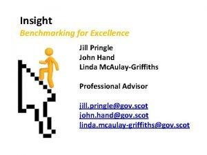 Insight Benchmarking for Excellence Jill Pringle John Hand