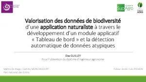 Valorisation des donnes de biodiversit dune application naturaliste