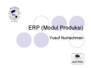 ERP Modul Produksi Yusuf Nurrachman Produksi l Kelompok