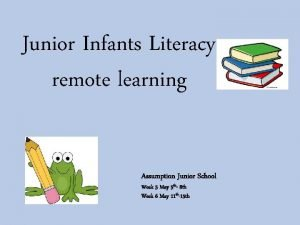 Junior Infants Literacy remote learning Assumption Junior School