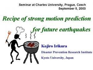 Seminar at Charles University Prague Czech September 5