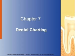 Chapter 7 Dental Charting Copyright 2004 by Delmar