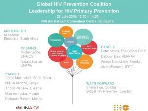 Global HIV Prevention Coalition Leadership for HIV Primary