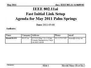 doc IEEE 802 11 11068903 May 2011 IEEE