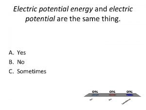 Electric potential energy and electric potential are the