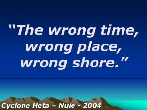 The wrong time wrong place wrong shore Cyclone